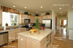 Universal Design kitchen diagram