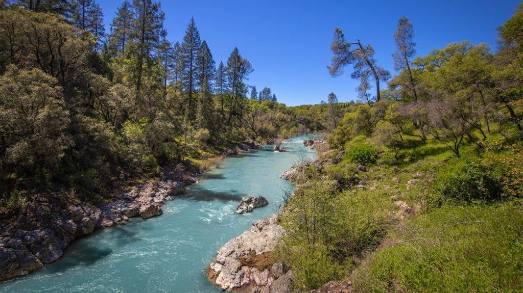 Yuba River in Nevada County, CA
