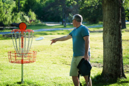senior activity: disc golf