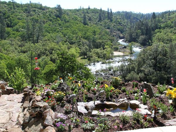 garden and Bear River at Rincon del Rio