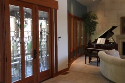 piano and lobby doors at Rincon del Rio clubhouse