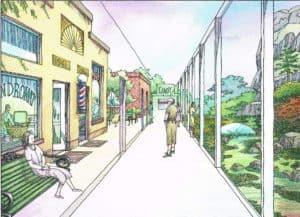Rincond del Rio memory care hallway (artist's representation)
