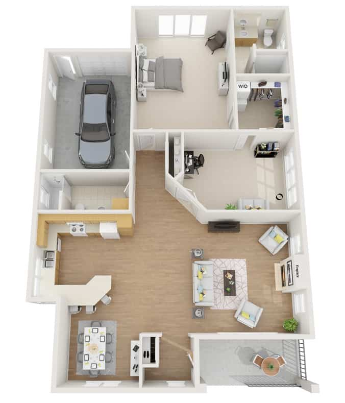 Our Fairview Senior Living Bungalow 3D Plan