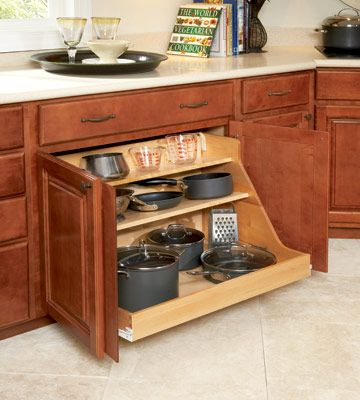 Universal Design - pull out cabinets under counter