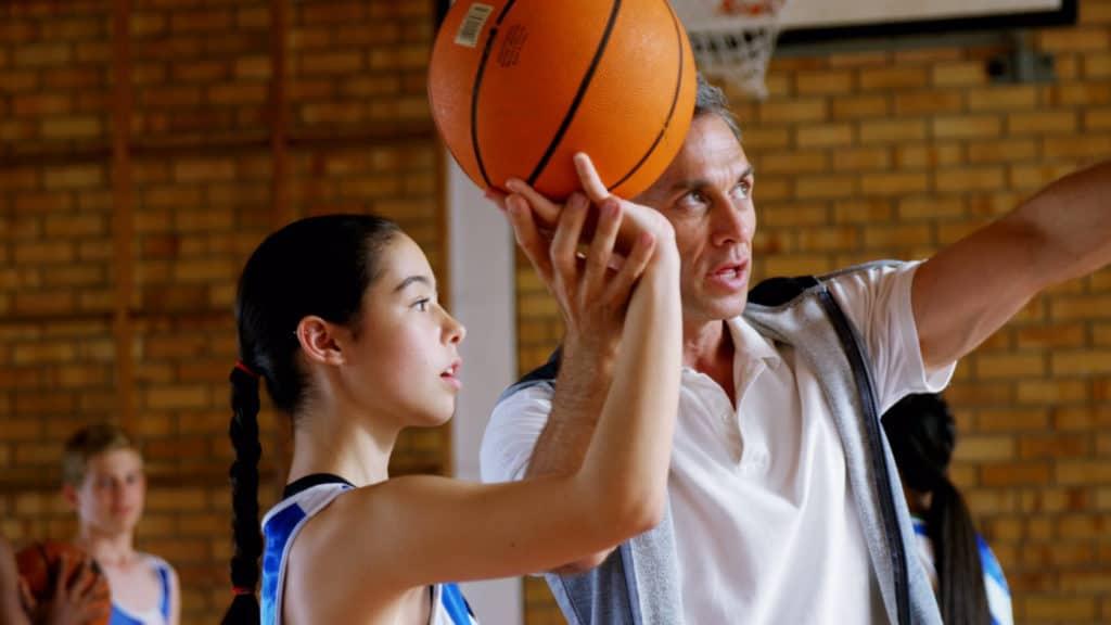 coaching school sports - senior volunteering